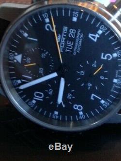 Fortis B- 42 Fliger cronograph Pilots Automatic 7750 Valjoux watch