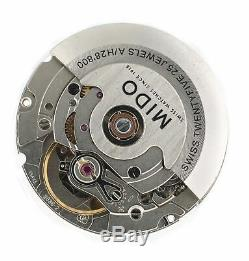 Genuine Mido ETA 2836-2 Swiss Made Automatic Movement with White Day Date Disc