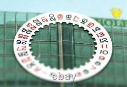 Genuine Rolex Date Disc, Calendar White Roulette Black/Red indicator Cal 3135