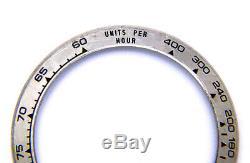 Genuine Rolex Daytona 116509 116519 18k White Gold Watch Bezel Insert Damaged