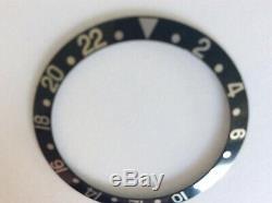 Genuine Rolex GMT Master 16700 black Bezel Insert
