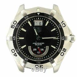 Genuine Tag Heuer Aquaracer 300m Black Dial, Watch Head For Parts Or Repairs