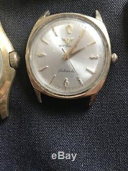 HUGE VINTAGE WATCH LOT OF 14 For Parts Repair Resale Nice Lot WithROLEX Outer Box