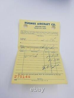 HUGHES Aircraft Watch 36mm Case GP Link Band Original Box LED Not Working =Parts