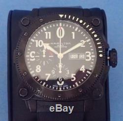 Hamilton Khaki Below Zero H786860 Chronograph Val. 7750 Pvd Divers Wristwatch