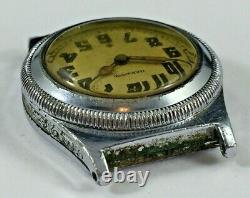 Harwood Early Automatic Watch, For Parts or Repair, Missing Mvmt Parts, 29.6mm
