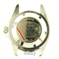 Heuer 980.015 Black Dial Quartz Prof 200m S. S. Watch Head For Parts Or Repairs