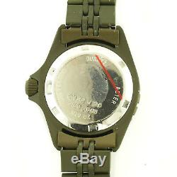 Heuer 981.008 Prof Diver 1000 Olive Dial+pvd 200m Ladies Watch For Parts/repairs