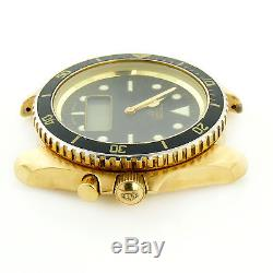 Heuer 984.024 Black Dial Digital 18k Plated S. S. Watch Head For Parts/repairs