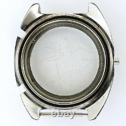 Heuer Autavia 1163 Chrono Stainless Steel Watch Case Frame For Parts/repairs
