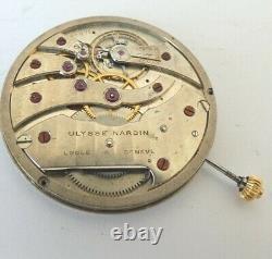 High grade Ulysse Nardin Locle pocket watch movement 41mm not working (Z508)