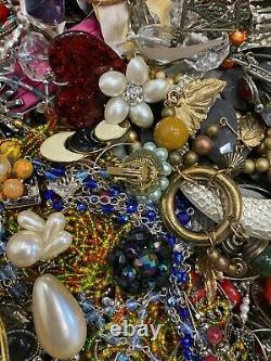 Huge 21+ Lbs Bulk Lot Estate Costume Jewelry Watches Junk Parts $13 Per Lb