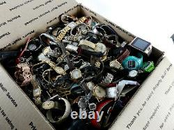 Huge Vintage Now Watch Lot 24 LBS Pounds Parts Repair Mens Womens Estate Watches