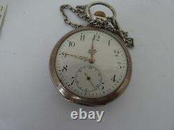 IWC Taschenuhr werk pocket watch mainspring brocken not working Dial (Z763)