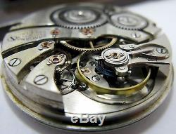 Illinois Sangamo Special 16s Pocket Watch Movement 23 jewels 6 adj. For parts OF