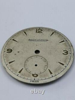 Jaeger LeCoultre Vintage Swiss 1950s 27mm Watch Dial Part For Spares or Repair