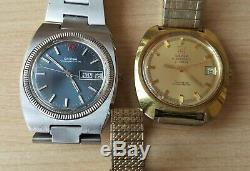 Job Lot of 3 Omega Wrist Watches Not Working Sold For Spares Repairs