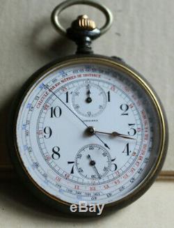 LONGINES POCKET WATCH CHRONOGRAPH 19.73N Broken balance