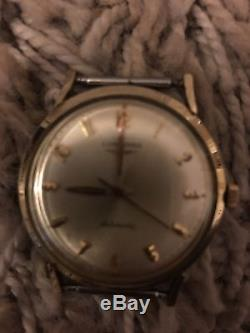 LONGINES Vintage Automatic Men's Watch 18K Gold Filled For Parts