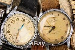LOT OF 7 VINTAGE MEN'S Watches For Parts or Repair Benrus, Timex, Rila, Wakman