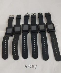 LOT of 6 Do NOT Work Pebble E-Paper Display Water Resistant Smart Watch 301BL