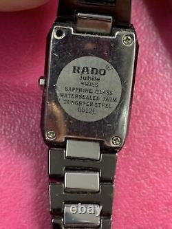 Ladies Rado Jubilee Diamond Encrusted Dial Tungsten Watches 2 Units For Parts