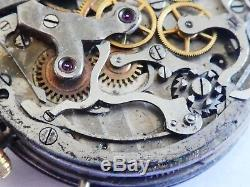 Landeron Chronograph watch movement not working with dial for parts (W85)