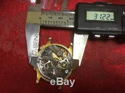 Landon 39 Part Chronograph Movement Part Case Crystal For Spares Or Repair