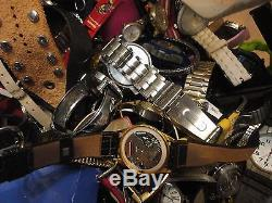 Large Lot Of 41lbs Of Mens, Womens, Children Watches Some Work Some For Parts