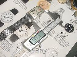 Large Vintage ZENITH Exploding Numbers STERLING SILVER mens Watch FPOR runs