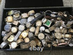 Large group of vintage mechanical watches for parts or repair