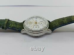Lemania 5100 Paul Picot Watch Chronograph Automatic Mens Swiss Made For Parts