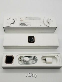 Locked Apple Watch Series 5 Gold Aluminum 40mm (GPS + LTE) FREE US SHIPPING