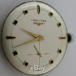 Longines 23z 17 jewels watch movement & dial for parts
