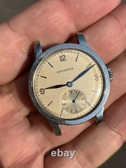 Longines Calatrava Cal 12.68Z Not Working For Parts Repair Vintage Watch