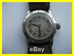 Longines Weems Ww2 Military Watch, Us Pat, Working For Light Repair Or Parts