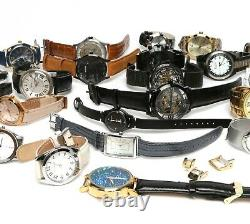 Lot Of 34 Watches August Steiner Hugo Boss Nixon For Parts Or Repairs Used