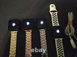 Lot Of 4 Apple Watch Series 5 A2095 With Metal Bands And Box As Is