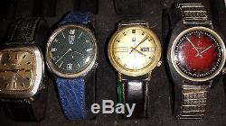 Lot Of 4 Vintage 1970's Bulova Accutron 218 Movement Watches 4u2fix Or For Parts