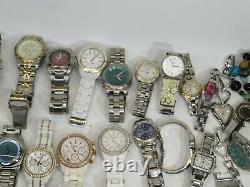 Lot Of 69 Fossil Quartz Automatic Mens Ladies Watches For Parts Repair