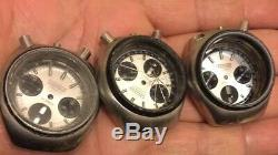 Lot Of Citizen Bullhead & Others Chronograph Automatic Watches For Parts As Is