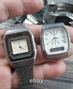 Lot Of Digital Watches, Seiko, Citizen And Orient For Restorations And Parts