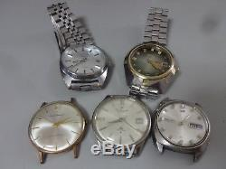 Lot of 5 SEIKO, CITIZEN, ORIENT mechanical watches for parts 5