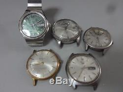 Lot of 5 SEIKO, CITIZEN mechanical watches for parts 3