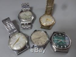 Lot of 5 SEIKO, CITIZEN mechanical watches for parts 4