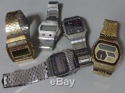 Lot of 5 Vintage SEIKO, CITIZEN Digital Quartz watches for parts 5