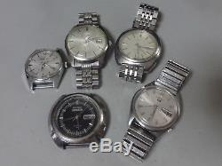 Lot of 5 Vintage SEIKO, CITIZEN mechanical watches for parts 4