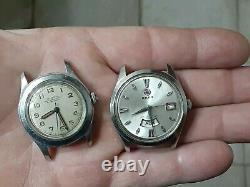 Lot of 8 vintage watches! Tissot Elgin Hamilton Rado seiko Bruen parts or repair