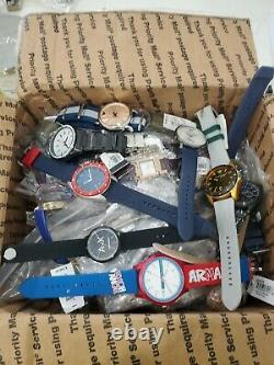 Lot of 80 Armani Exchange Sample Watches for parts or repair. (no movement)