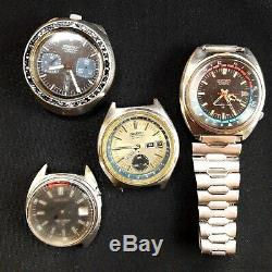 Lot of Seiko 6138 6139 Automatic Chronograph watches for restorations and parts